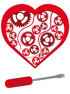 Free Heart With The Mechanism Stock Image - 8170121