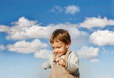 Happy Boy Running Royalty Free Stock Image
