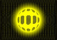 Free Ball In Yellow Cosmic Web Royalty Free Stock Photography - 8171057