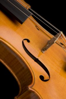 Close Up Of A Violin Royalty Free Stock Images