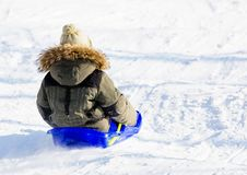 Free Child On A Sled Stock Photos - 8172193