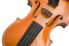 Close Up Of A Violin Stock Photo