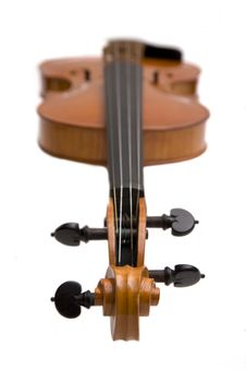 Free Violin With Focus On The Scroll Royalty Free Stock Images - 8172249