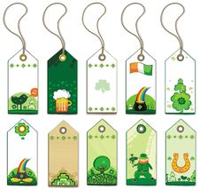Free St. Patrick S Day Tags. Stock Photography - 8172292