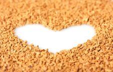 Free Instant Coffee Grains Around Heart Contour Stock Photo - 8172460
