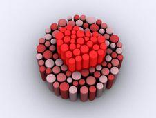 Free Heart Pixel Royalty Free Stock Image - 8172466