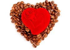 Free Red Heart Box And Coffee Stock Photography - 8172482