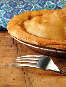 Free Apple Pie With Fork Stock Photography - 8172512