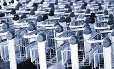 Free Handles Of Carts Royalty Free Stock Photography - 8172677