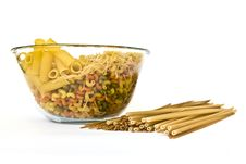 Colorful Noodles Bowl Stock Photo