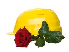 Free Helmet With Rose Royalty Free Stock Photos - 8172908