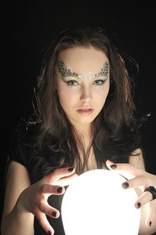 Free Make Wishing With A Magic Crystal Ball Stock Photo - 8172910