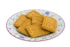 Plate Of Biscuits Cookies Stock Photography