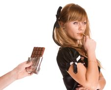 Free The Girl With Chocolate Stock Photo - 8173780