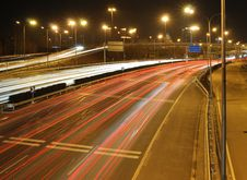 Traffic Night Of City Stock Photography
