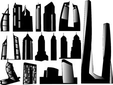 Building Silhouettes. Royalty Free Stock Image