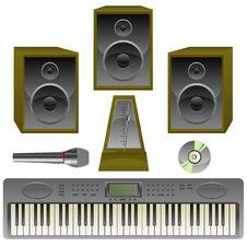 Free Musik Set Royalty Free Stock Images - 8174869