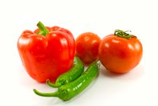 Free Peppers And Tomatoes Stock Images - 8175804