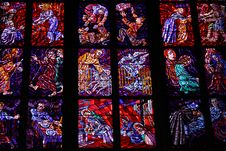 Free Stained-glass Window In St.Vitus Cathedral Royalty Free Stock Image - 8176216