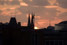 Sunset Over The Hague Stock Photography