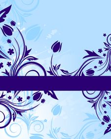 Free Blue Floral Background Royalty Free Stock Image - 8177036