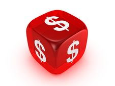 Free Translucent Red Dice With Dollar Sign Royalty Free Stock Photo - 8177205