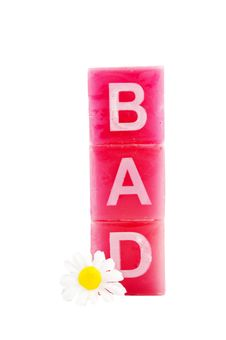 Free Bad In Letters With Daisy Royalty Free Stock Photo - 8177255