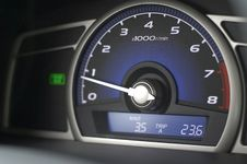 Free Dashboard Of A Car Stock Photography - 8177682