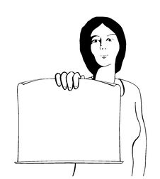 Free A Woman With Sheet Of Paper Stock Photos - 8177743