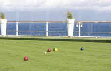 Free Bocce Ball At Sea Stock Photography - 8177802