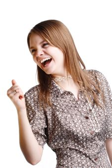 Free Girl Laughing Stock Images - 8177894