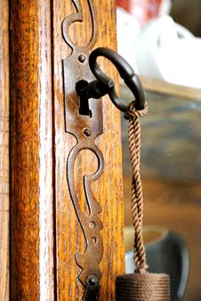 Old Key And Closet Royalty Free Stock Photos