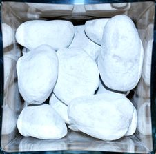 Free White Stones Stock Photography - 8178172
