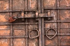 Free Old Gate With Lock Stock Images - 8178244