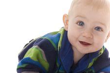 Free Happy Baby Crawls Towards Camera Royalty Free Stock Photo - 8178335