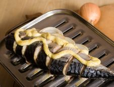Mackerel And Onion Stock Photos