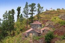 Small Houses On La Palma Stock Photography
