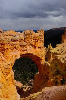Natural Bridge Bryce Canyon National Park Royalty Free Stock Photos
