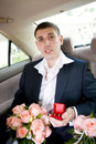 Free Groom In The Car Royalty Free Stock Photography - 8189467