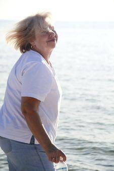 Free Happy Senior Woman Stock Image - 8180411