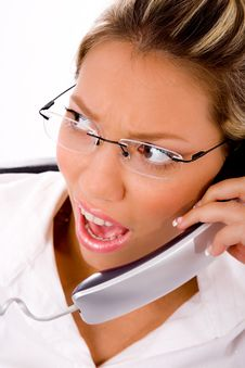 Free Close Up Of Manager Busy On Phone Royalty Free Stock Image - 8180696