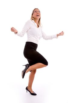 Free Side View Of Successful Businesswoman Stock Photos - 8180793
