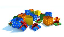 Free Opened Gift Boxes Royalty Free Stock Photo - 8180795