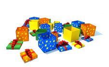 Free Opened Gift Boxes Royalty Free Stock Images - 8180799