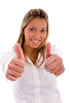 Lawyer Showing Thumb Up With Hands Stock Photos