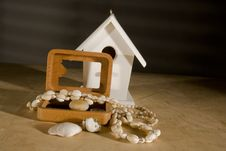 Bird House And Decore Royalty Free Stock Images