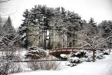 Free Winter Bridge Royalty Free Stock Images - 8181099