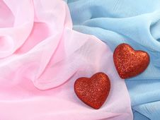 Free Two Red Hearts Stock Image - 8181781
