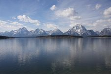 Free Grand Tetons From Jackson Lake Dam Royalty Free Stock Photo - 8181785