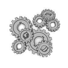 Free Isolated Cogwheels Stock Image - 8181871